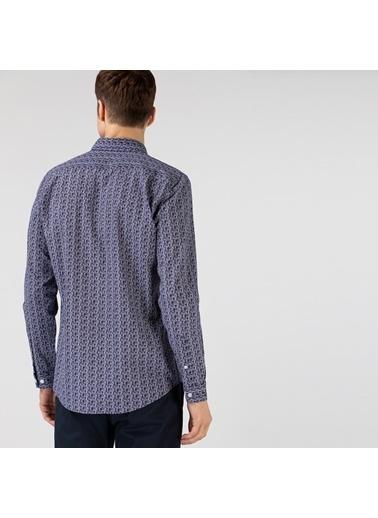 Lacoste Erkek Slim Fit Gömlek CH0196.96L Lacivert